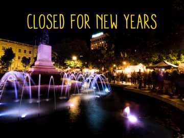 Closed for new year place holder